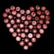 Round garnet shape of heart — Stock Photo