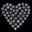 Round diamond shape of heart on — Stock Photo