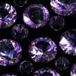 Set of round amethyst - Foto Stock
