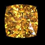 Jewelry gems on black background. Citrine. — Stock Photo #8126006