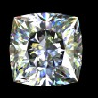 Square shape diamond . Gemstone - Foto Stock
