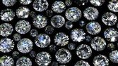 Set of round diamond on black background — Stock Photo