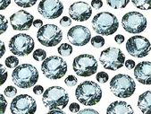 Set of round swiss blue topaz. Gemstone — Stock Photo