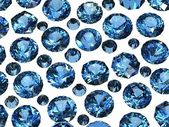 Set of Round blue sapphire. Gemstone — Stock Photo