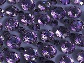 Set of round amethyst . Gemstone — Stock fotografie
