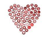 Round garnet shape of heart — Stock Photo