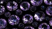 Set of round amethyst — Stock Photo