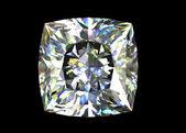 Diamante di forma quadrata. gemma — Foto Stock