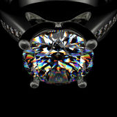 Ring with diamond — Stock fotografie
