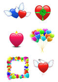 Icons of Happy Valentines day — Stock Vector