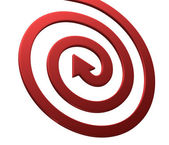 Arrows on white. Spiral shape — Stock Photo