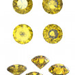 Round yellow sapphire — Stock Photo