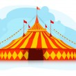 Stock Vector: Big top circus tent