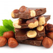 Hazelnuts chocolate - Stock Photo