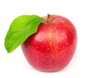 Sött äpple med blad — Stockfoto