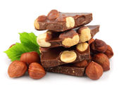 Hazelnuts chocolate — Stock Photo