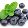 Sweet blueberry with fresh mint — Stock Photo