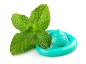 Toothpaste with mint — Stock Photo