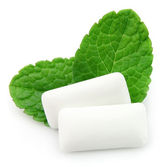 Chewing gum menthol — Stock Photo