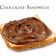 Chocolate sandwich - Stock Photo