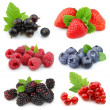 Stock Photo: Collection of sweet berries