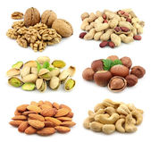 Collage of nuts — Stock Photo