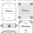 Set of ornate vector frames and ornaments with sample text. Perf — 图库矢量图片