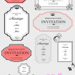 Set of ornate vector frames and ornaments with sample text. Perf — Stock vektor