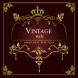 Invitation vintage card. Wedding or Valentine`s Day. Vector illu — Image vectorielle