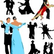 Royalty-Free Stock Vector Image: Silhouette dancing for design. Vector illustration