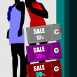 Few sale images. Vector illustration for designers. Shopping — Stock Vector