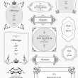 Set of ornate vector frames and ornaments with sample text. Perf — Stock Vector #8760213