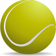 Yellow-green tennis ball on white isolated background. Vector il - Vektorgrafik