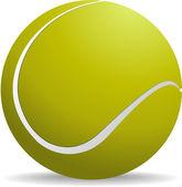 желто зеленый теннисный мяч на белом фоне изолированных. вектор il — Cтоковый вектор