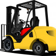 Lift truck. Forklift. Vector illustration — Stock Vector #8976796