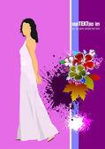 Dekking van de bruiloft album. bruiloft inwitation. vectorillustratie — Stockvector