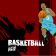 Basketball players poster. Colored Vector illustration for desig - Imagen vectorial