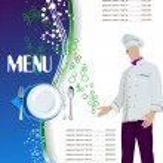 Restaurant (cafe) menu. Colored vector illustration for designer — Stock Vector #9882076
