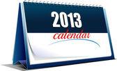 Vector illustration of desk calendar. 2013 year — Stock Vector