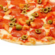 Baked pizza — Stock Photo