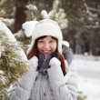Outdoor winter portrait of woman - Foto de Stock