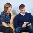 Stock Photo: Financial problems in family