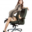 Sexy woman  with  office armchair — Photo