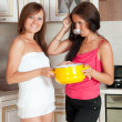 Women with   saucepan — Stock Photo