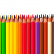 Foto Stock: Border from multicolored pencil