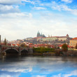Prague Castle from Vltavside — Stock Photo #10530669