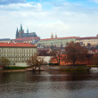 View of Prague from Vltavside — Stock Photo #10530670