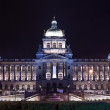 Stock Photo: National Museum at Wenceslas Square in night