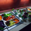 Vegetables in trays — Stock Photo