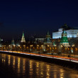 Moscow Kremlin in winter night — Stock Photo